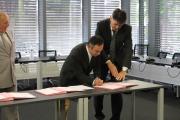 Signature de la convention avec Agglopole Provence 11 Juin 2013